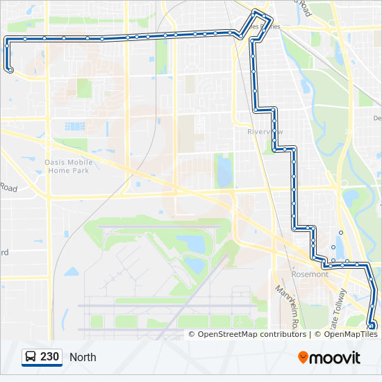 230 Route: Time Schedules, Stops & Maps - North