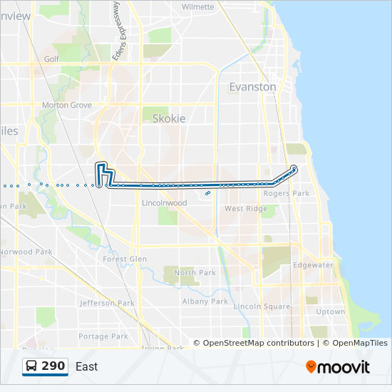 290 Route: Time Schedules, Stops & Maps - West