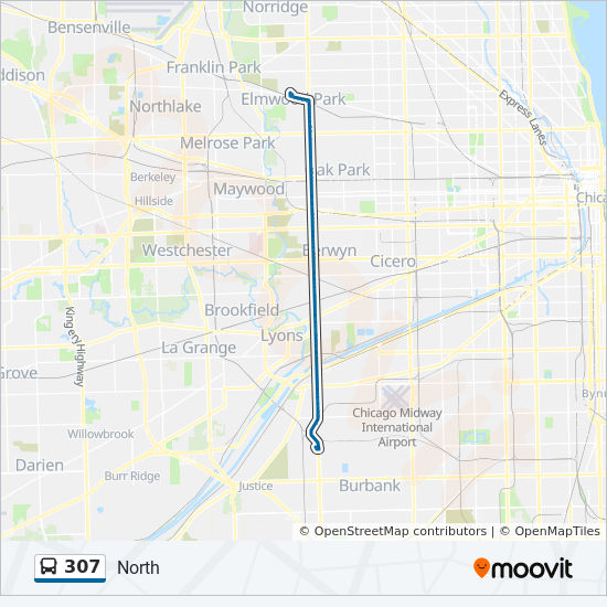 307 Route Time Schedules Stops Amp Maps North