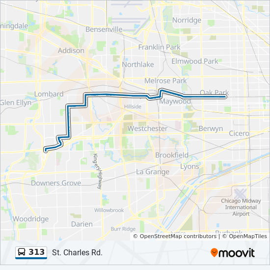 313 Route: Time Schedules, Stops & Maps - East