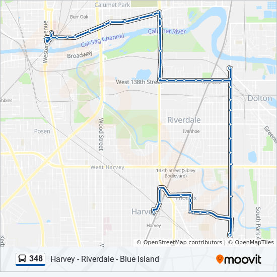 348 Route: Time Schedules, Stops & Maps - North