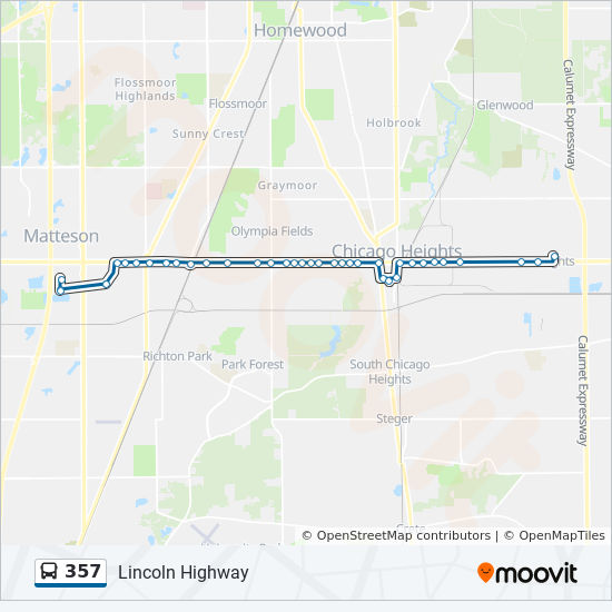 357 Route: Time Schedules, Stops & Maps - West