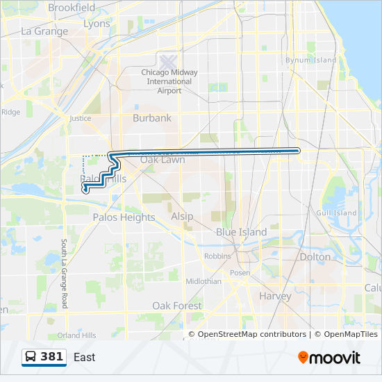 381 Route: Time Schedules, Stops & Maps - West