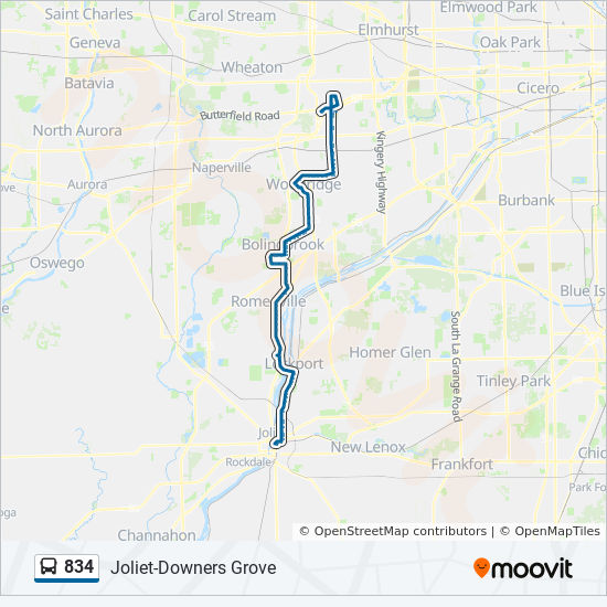 834 Route Time Schedules Stops Amp Maps North