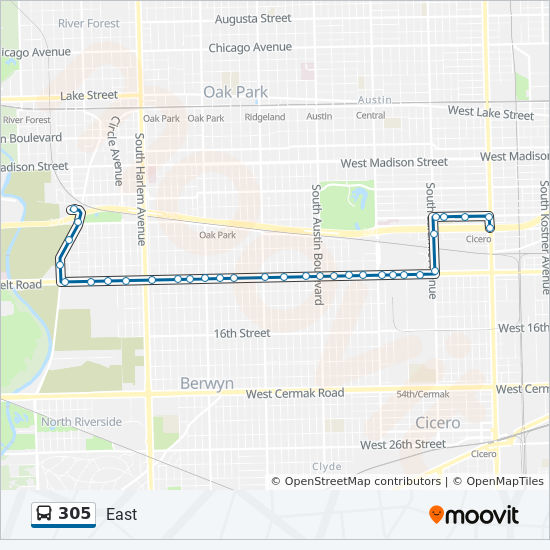 305 Route Time Schedules Stops Amp Maps East