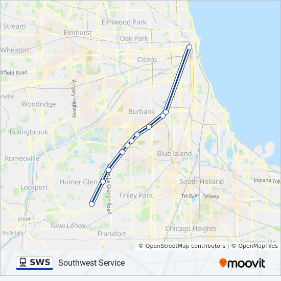 SWS Route: Time Schedules, Stops & Maps - Chicago Union Station