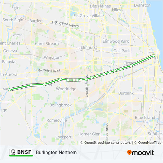 BNSF Route: Time Schedules, Stops & Maps - Chicago Union Station