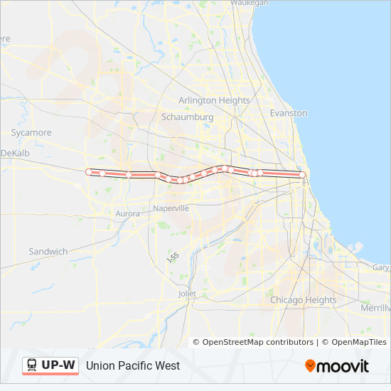UP-W Route: Time Schedules, Stops & Maps - Chicago OTC