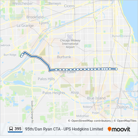 395 Route: Time Schedules, Stops & Maps - East