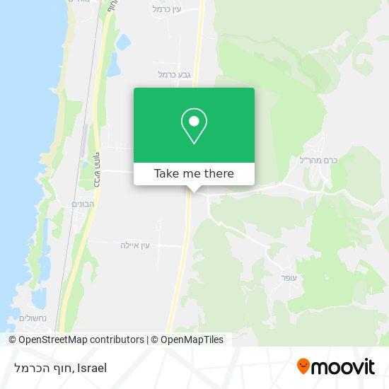 חוף הכרמל map