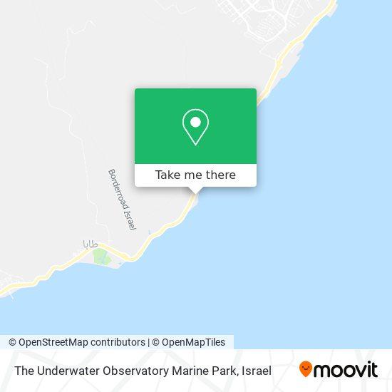 The Underwater Observatory Marine Park map