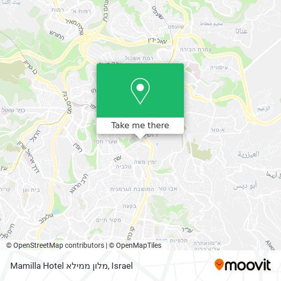 Mamilla Hotel מלון ממילא map