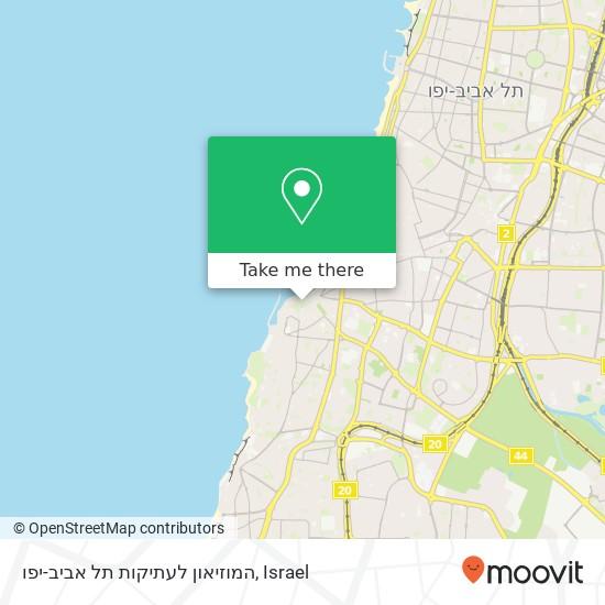 המוזיאון לעתיקות תל אביב-יפו plan