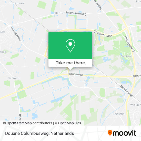 Mapa Douane Columbusweg