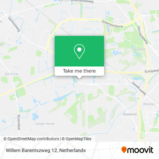Willem Barentszweg 12 Karte