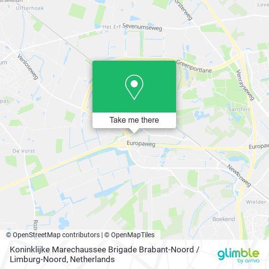 Mapa Koninklijke Marechaussee Brigade Brabant-Noord / Limburg-Noord
