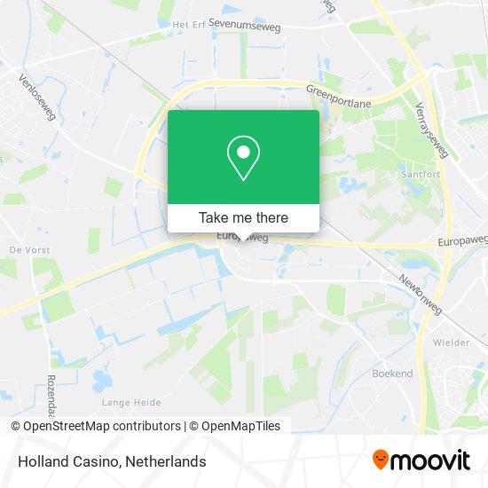 Holland Casino map