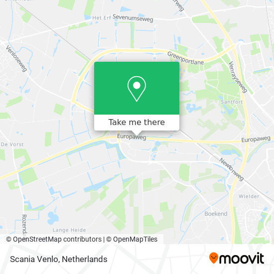 Scania Venlo map