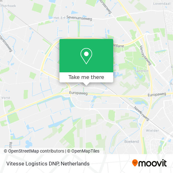 Mapa Vitesse Logistics DNP