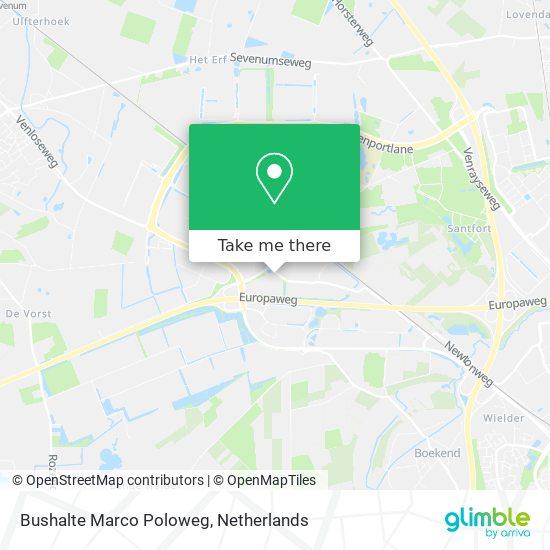 Bushalte Marco Poloweg map