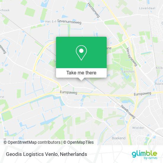 Mapa Geodis Logistics Venlo
