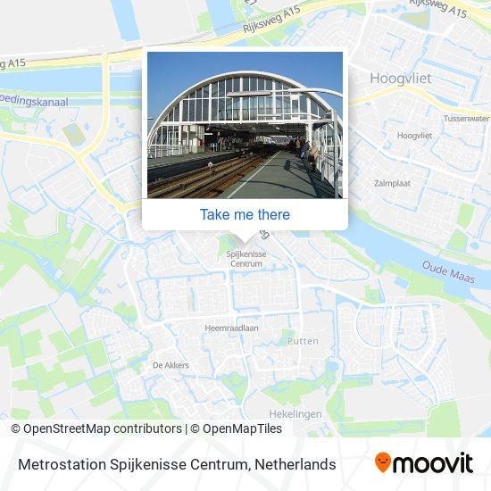 Metrostation Spijkenisse Centrum Karte