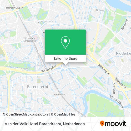 Van der Valk Hotel Barendrecht map