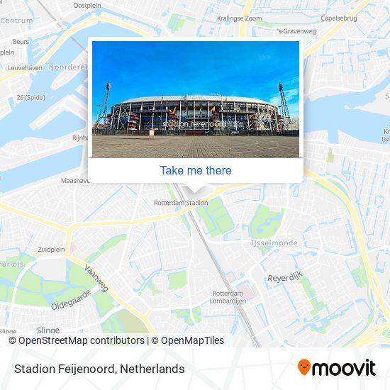 Stadion Feijenoord map