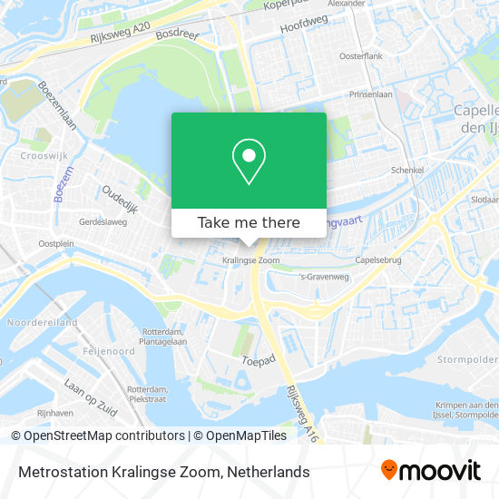 Mapa Metrostation Kralingse Zoom