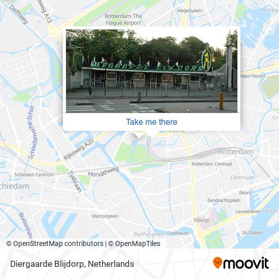 Mapa Diergaarde Blijdorp