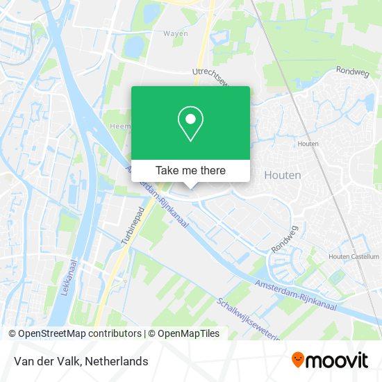Mapa Van der Valk