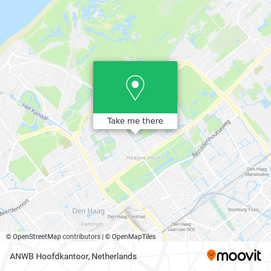 ANWB Hoofdkantoor Karte