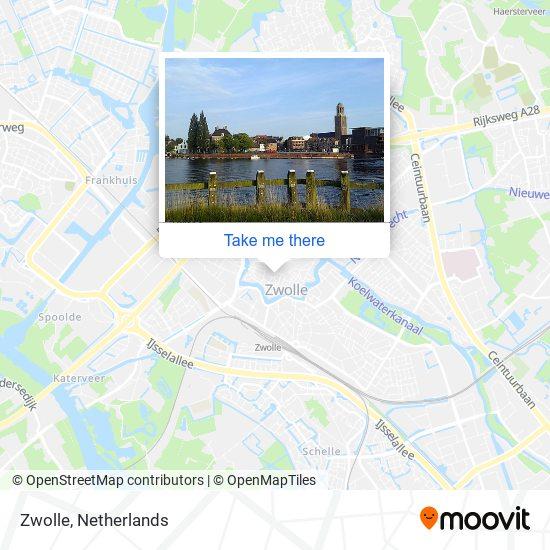 Zwolle Karte