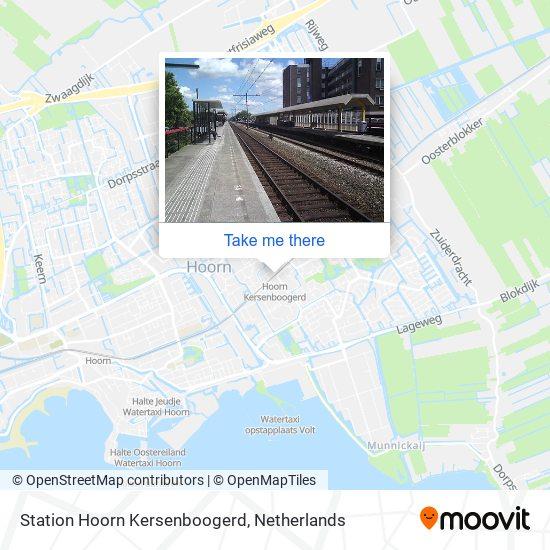 Station Hoorn Kersenboogerd Karte