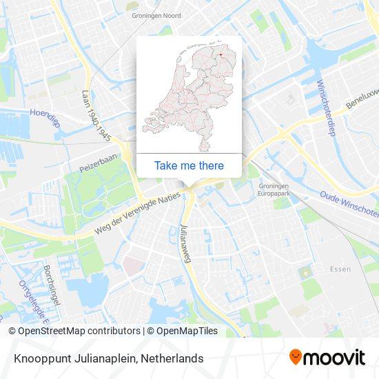 Knooppunt Julianaplein map