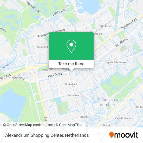 Alexandrium Shopping Center Karte