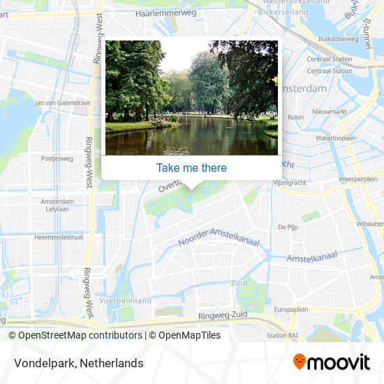 Vondelpark map