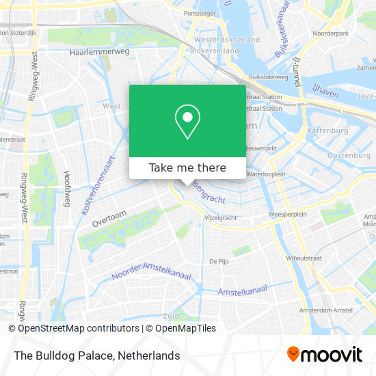The Bulldog Palace map