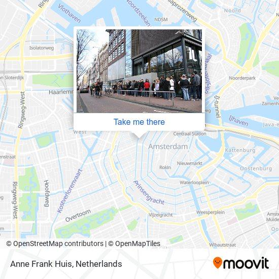 Anne Frank Huis Karte