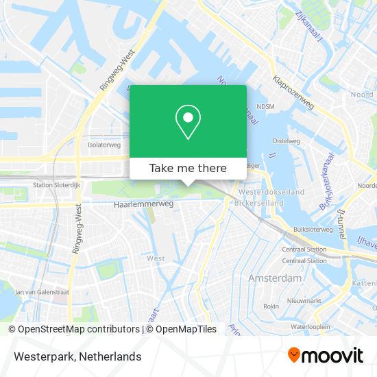 Westerpark map