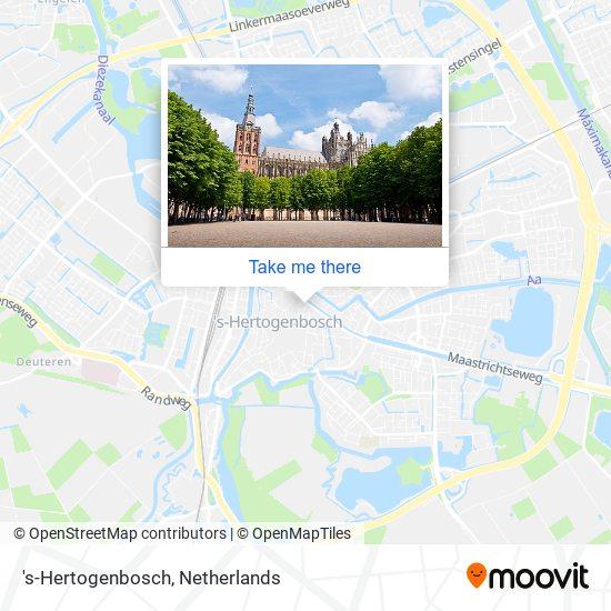's-Hertogenbosch Karte