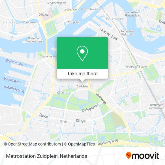 Mapa Metrostation Zuidplein