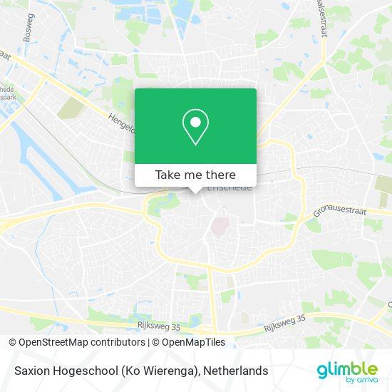 Saxion Hogeschool (Ko Wierenga) map