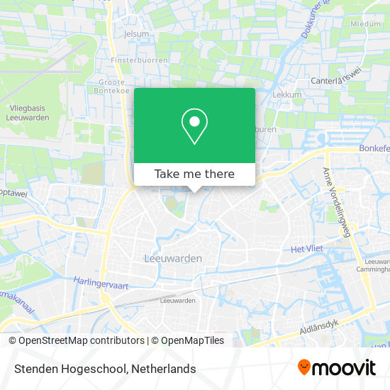 Mapa Stenden Hogeschool