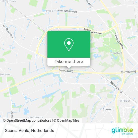 Mapa Scania Venlo