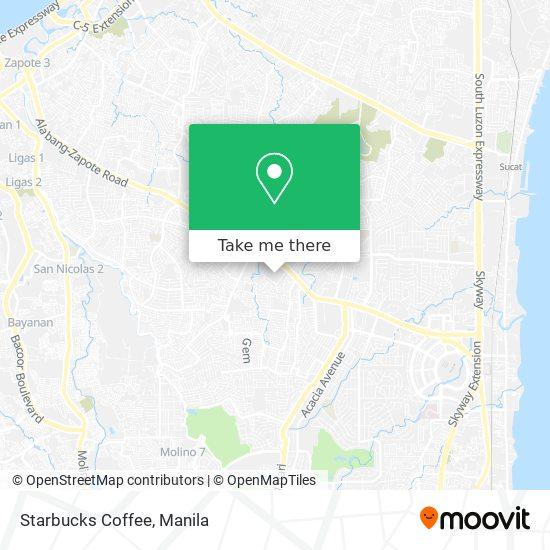 Starbucks Coffee map