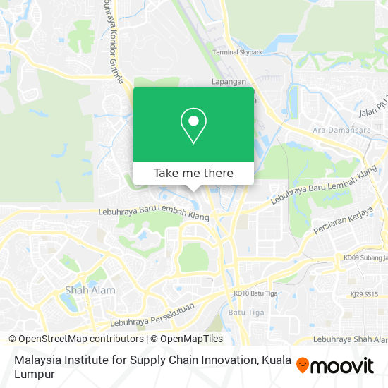 Malaysia Institute for Supply Chain Innovation map