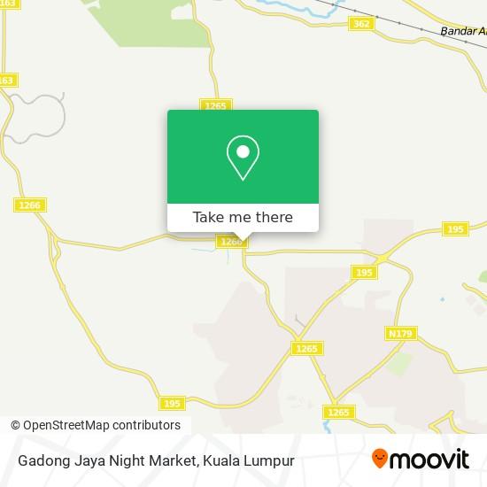 Gadong Jaya Night Market map