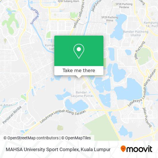 MAHSA University Sport Complex map