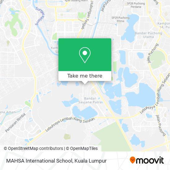 MAHSA International School map